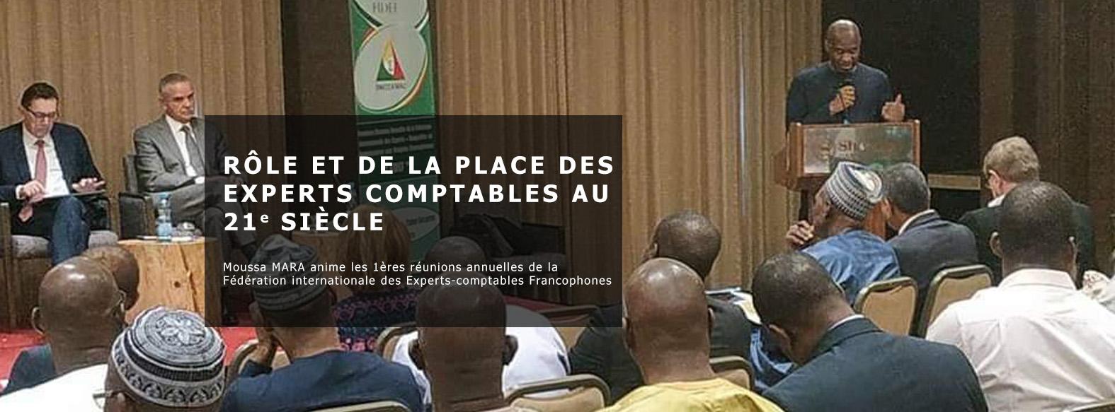 Moussa MARA anime les 1ères réunions annuelles de la Fédération internationale des Experts-comptables Francophones