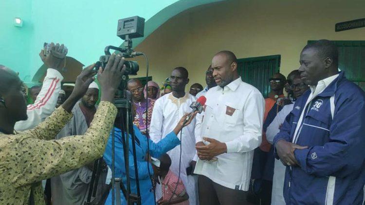 Moussa MARA à Yirimadio pour participer à l'inauguration du centre de santé