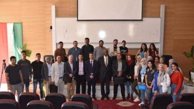 Moussa MARA anime une conférence à l'école Nationale de Commerce et de Gestion (ENCG) de Dakhla au Maroc