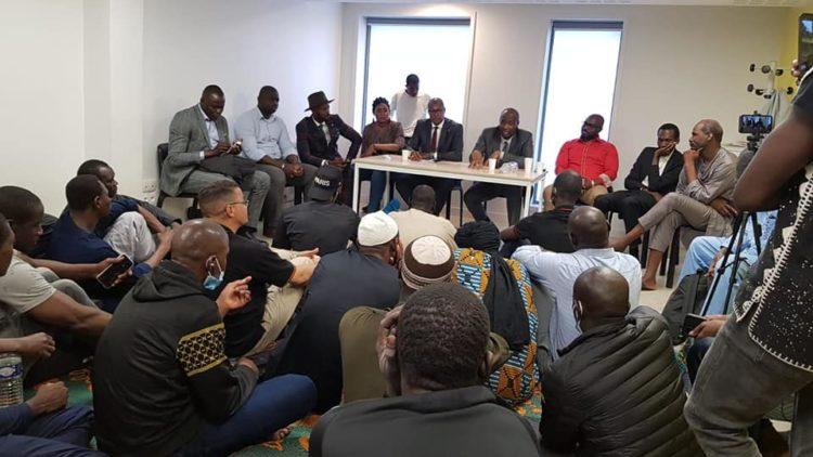 Moussa MARA au Foyer du 13e Arrondissement pour clôturer son séjour en France.